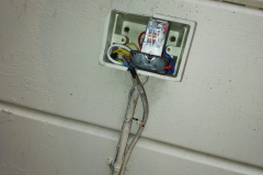 Broken box and use of non-compliant cable