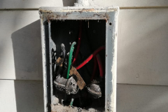 Open electrical box